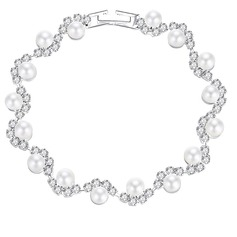 Unique Alloy/Rhinestones/Imitation Pearls With Rhinestone Ladies' Bracelets