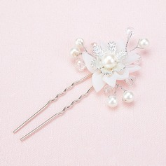 Ladies Gorgeous Crystal/Imitation Pearls/Silk Flower Hairpins (Sold in single piece)