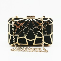Elegant Satin/Alloy Clutches