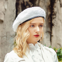 Ladies' Lovely/Pretty Polyester/Faux Leather Beret Hats