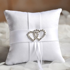 "Elegant Ring Pillow in Satin( 4""x4"" (10*10cm))"