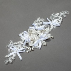 Beautiful Lace/Ribbon Combs & Barrettes With Pearl