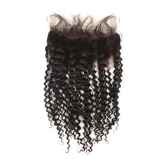 360 Frontal 5A Deep Human Hair Closure (Sold in a single piece)