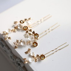 Glamourous Alloy Hairpins (Set of 3 pieces)