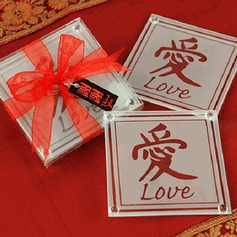 Chinese or Asian-themed LOVE Coaster (set of 2pcs)