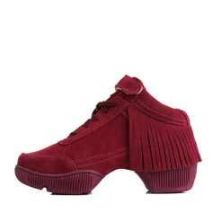 Women's Suede Sneakers Sneakers With Tassel Dance Shoes