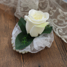 Elegant Silk Flower Wrist Corsage (Sold in a single piece) - Wrist Corsage