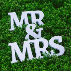 "PVC ""Mr. & Mrs."" Decoraciones de boda"