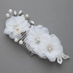 Fancy Imitation Pearls/Artificial Silk Combs