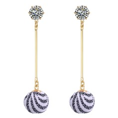 Exquisite Rhinestones Copper Cloth With Rhinestone Women's Fashion Earrings (Set of 2)