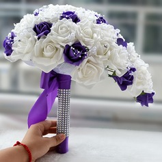 Attractive Cascade Satin Bridal Bouquets