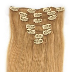 5A Virgin/remy Straight Human Hair Clip in Hair Extensions 7pcs 80g