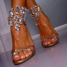 Women's Stiletto Heel Sandals With Crystal shoes (087114600)