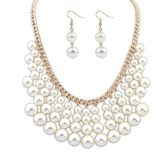 Charming Alloy/Pearl Women's Jewelry Sets