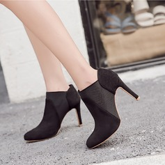 Women's Suede Stiletto Heel Pumps Boots Ankle Boots shoes (088134512)