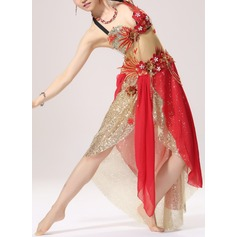 Women's Dancewear Cotton Polyester Chiffon Belly Dance Outfits (115086469)