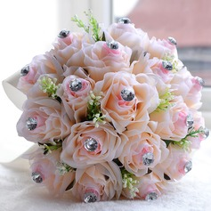 Attractive Artificial Silk/Rhinestone Bridal Bouquets/Bridesmaid Bouquets