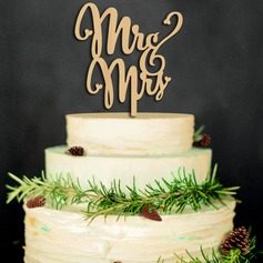 Mr. & Mrs. Wood Cake Topper (Set of 2) (119103301)