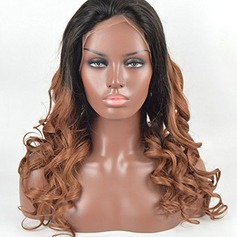 3A Non remy Deep Wavy Human Hair Lace Front Wigs (Sold in a single piece)