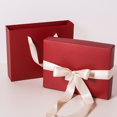 Large red favor bag candy carry bag with ribbon