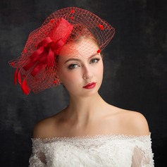 Dames Klassiek Feather/Netto garen/Kant/Tule/Linnen met Feather Fascinators (196105111)