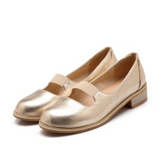 Women's Patent Leather Low Heel Flats Platform shoes