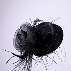 Ladies Elegant Feather/Tulle Flowers & Feathers