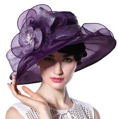 Ladies' Glamourous/Elegant/Handmade/High Quality Cambric/Organza With Flower Kentucky Derby Hats/Tea Party Hats