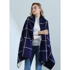 Plaid Oversized/Shawls Artificial Wool Scarf