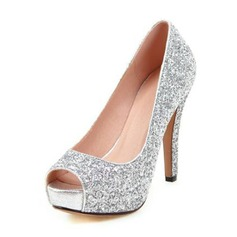 Women's Sparkling Glitter Stiletto Heel Pumps Sandals
