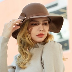 Ladies' Beautiful/Elegant/Simple Wool Floppy Hat