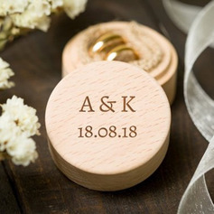 Simple/Delicate/Personalized Wood Ring Box