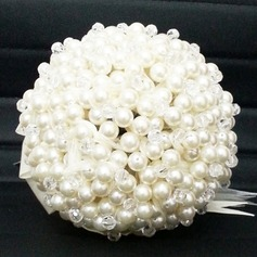 Dreamlike Round Satin/Crystal/Pearl Bridal Bouquets