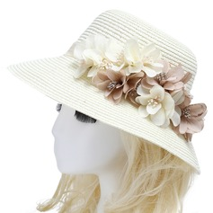 Ladies' Hottest Rattan Straw Bowler/Cloche Hat