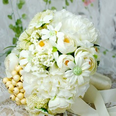 Romantic Round Fabric/Emulational Berries Bridal Bouquets -