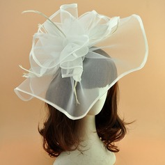 Ladies' Elegant Cambric With Feather Fascinators