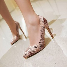 Women's Microfiber Leather Stiletto Heel Pumps With Others shoes