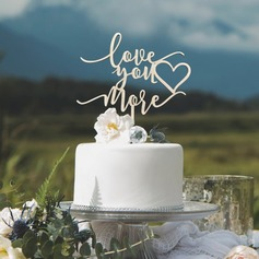 Love You More Acrylic/Wood Cake Topper