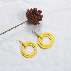 Alloy Wood Women's Fashion Earrings