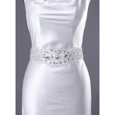 Gorgeous Satin Sash With Beading/Lace