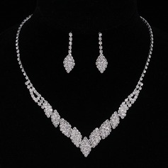 Fashionable Alloy/Rhinestones Ladies' Jewelry Sets (011094004)