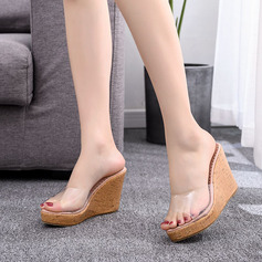 Kids' Leatherette Wedge Heel Flip-Flops Peep Toe Platform Sandals Slingbacks Wedges Beach Wedding Shoes