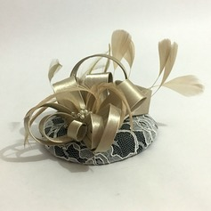 Ladies' Unique Cambric/Fabric With Feather Fascinators