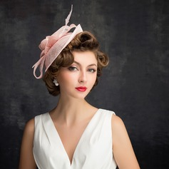 Dames Mooi Feather/Tule/Linnen met Feather Fascinators