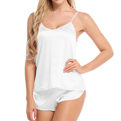 Classic Imitated Silk Cami Sets Bridal Lingerie/Cami Sets (041230236)
