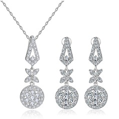 Gorgeous Copper/Zircon Ladies' Jewelry Sets