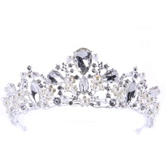 Charmant Alliage Tiaras avec Strass