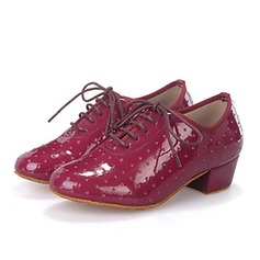 Women's Leatherette Sneakers Swing Practice With Lace-up Dance Shoes
