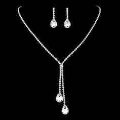 Ladies' Stylish Rhinestones With Pear Jewelry Sets (011209092)