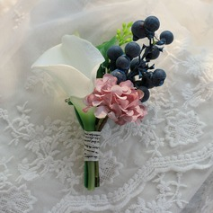 Sweet Satin/Silk Boutonniere -